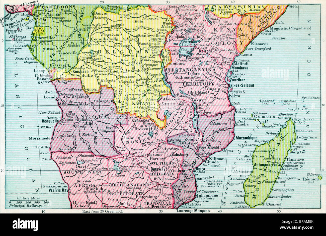Map of Central Africa circa 1930 Stock Photo: 31583067 - Alamy