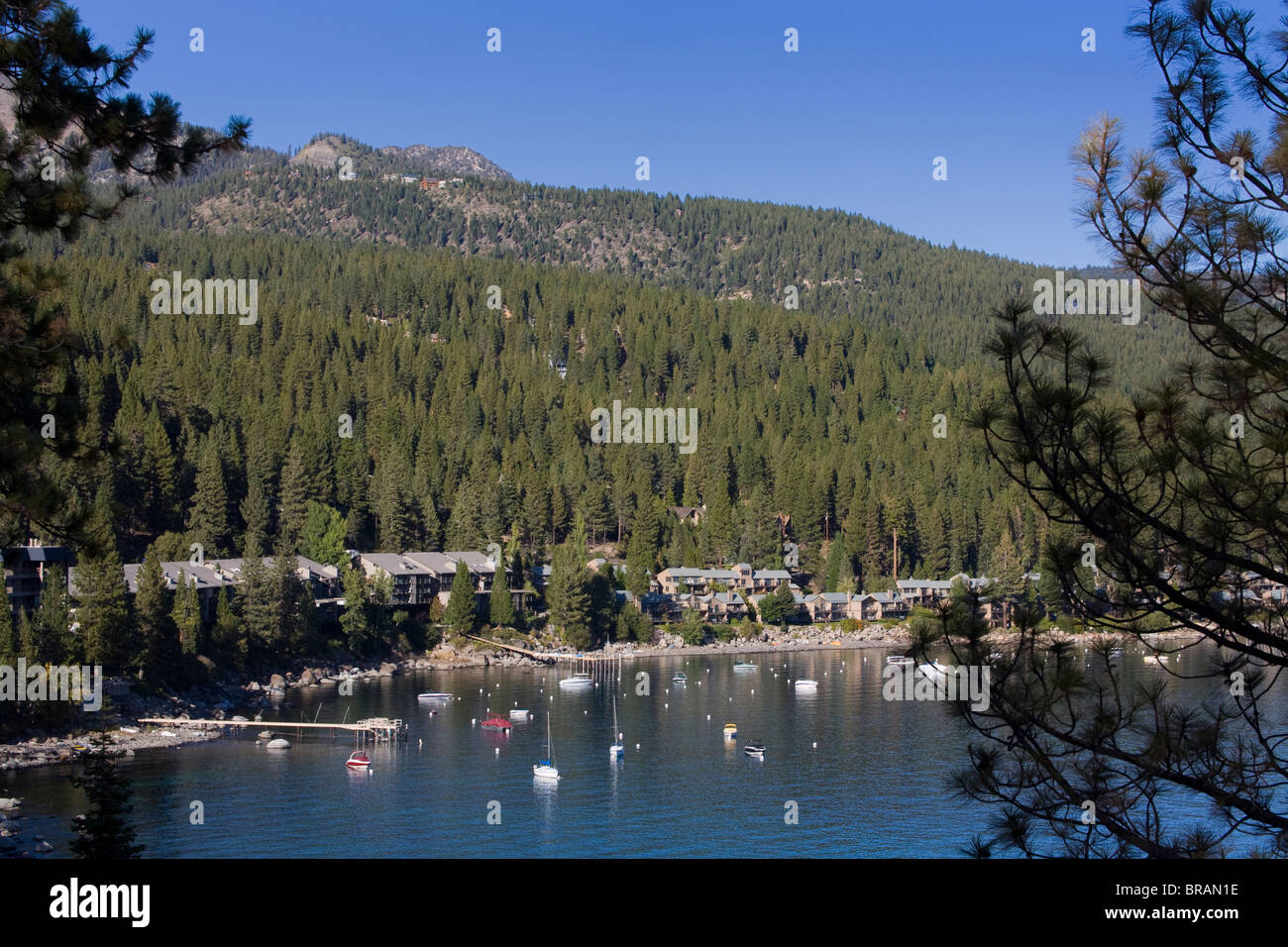 Crystal Bay on Lake Tahoe, Nevada, United States of America, North America Stock Photo