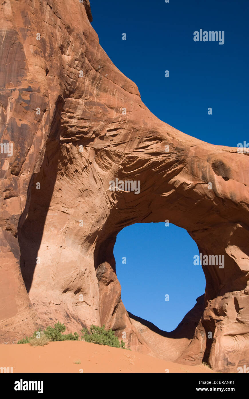 Ear of the Wind Arch, Mystery Valley, Monument Valley Navajo Tribal Park, Arizona, United States of America, North - Stock Image