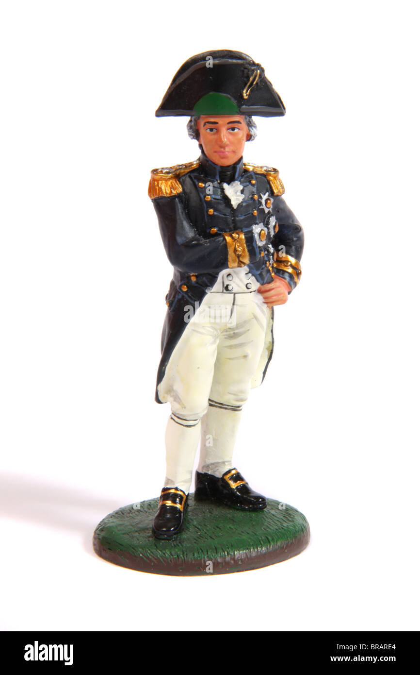 A collectible miniature figure of Vice-admiral Lord Horatio Nelson by Del Prado - Stock Image