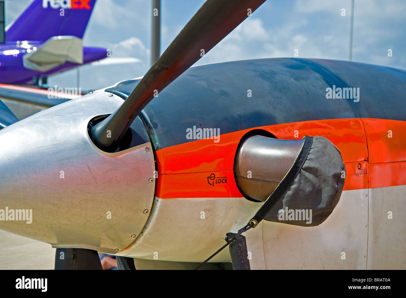T-6 T6 US Air Force propeller aircraft for basic pilot training - Stock Image