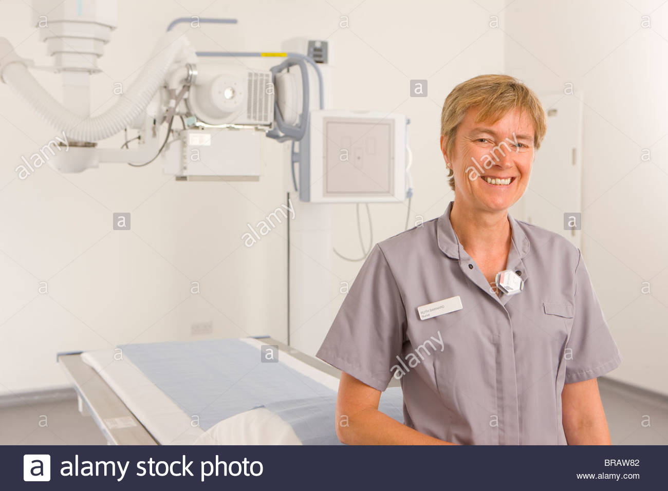 Radiologist standing in radiology department - Stock Image