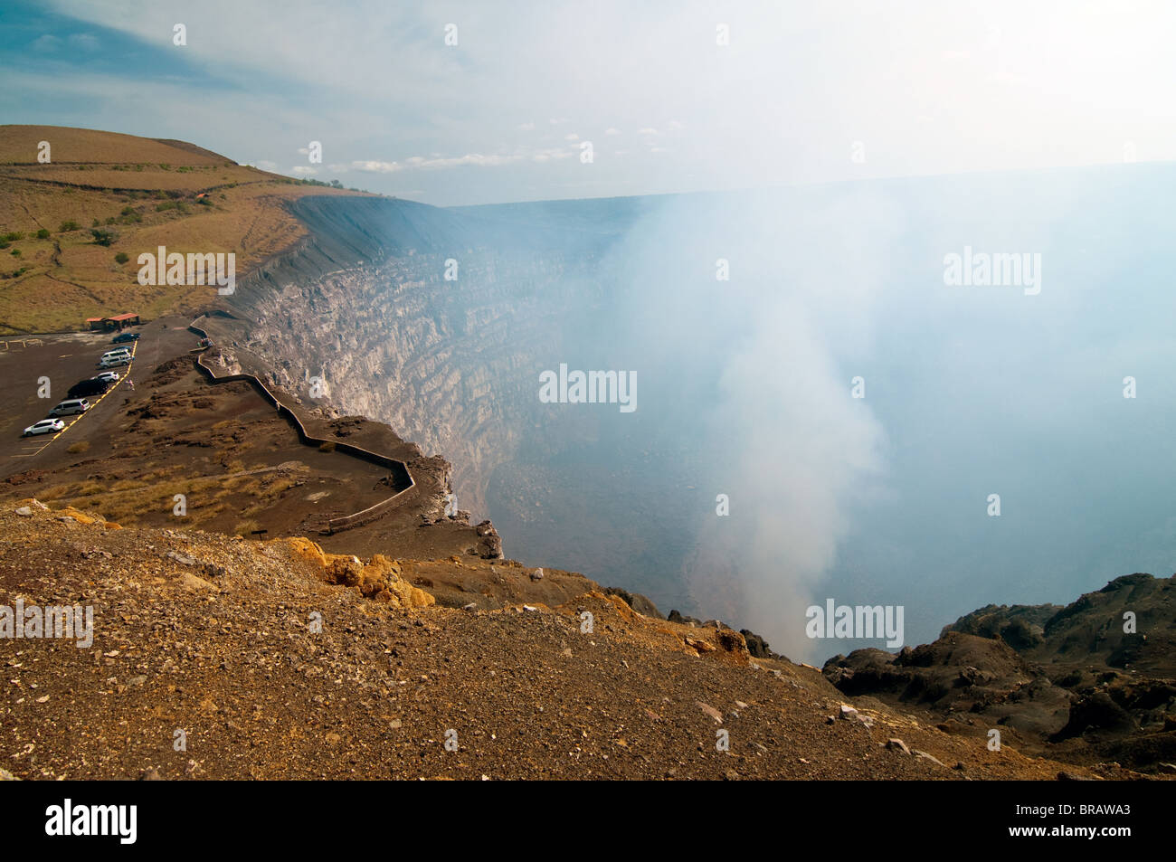 The picture of the Volcano Masaya in Nicaragua - Stock Image