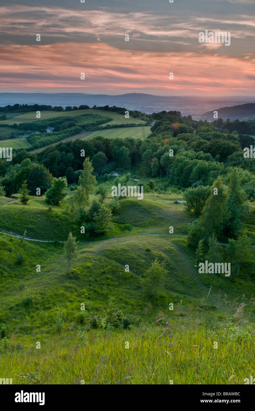 View from Painswick Beacon, Gloucestershire, Cotswolds, UK - Stock Image