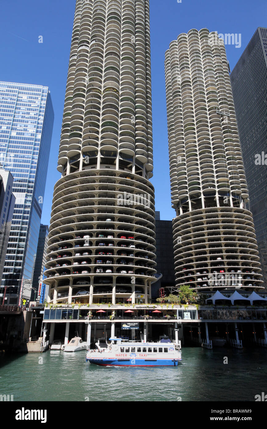chicago marina city apartment building stock photo 31587145 alamy