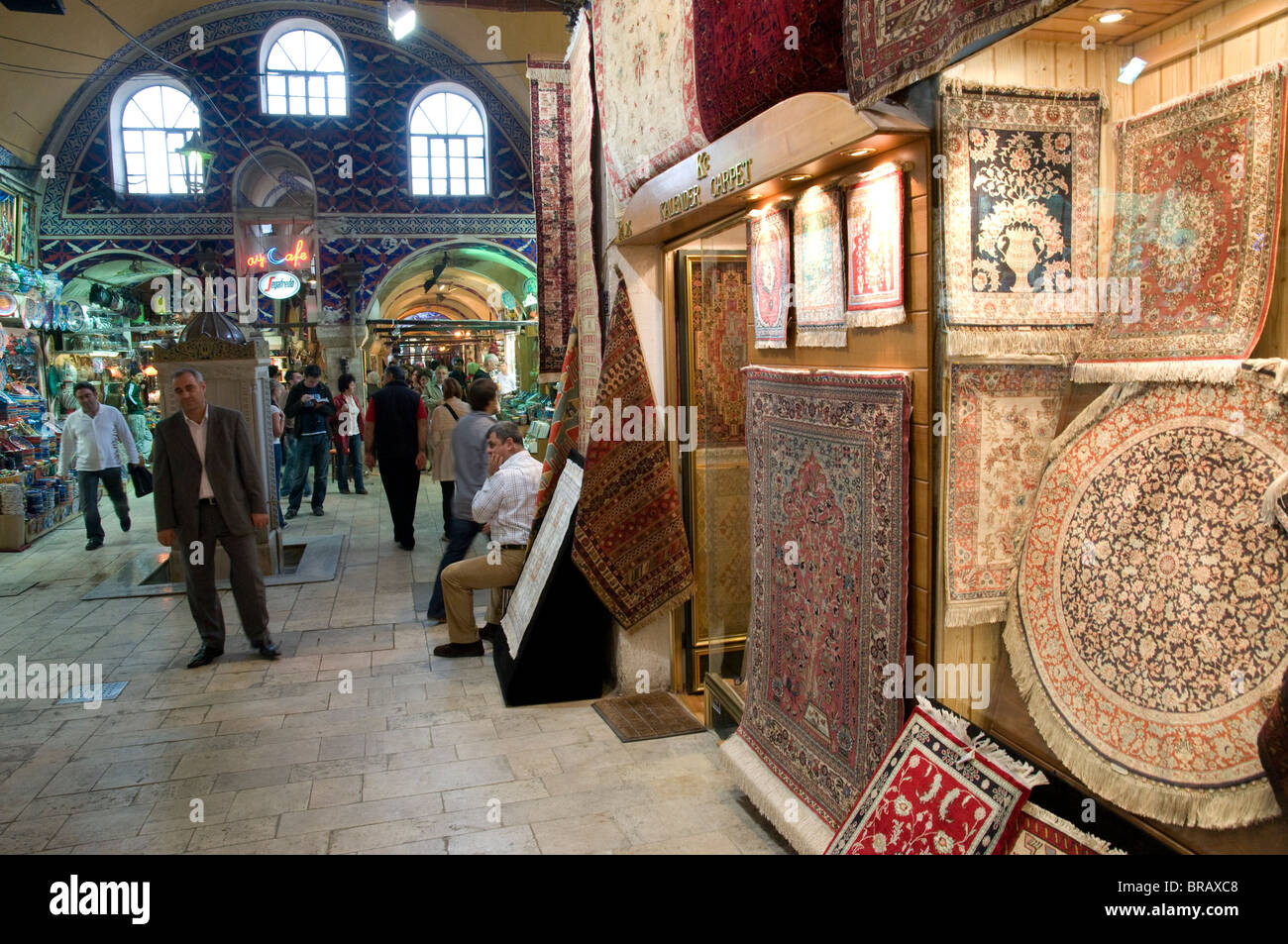 Carpets shop at the Grand Bazaar. Istanbul. Turkey. - Stock Image
