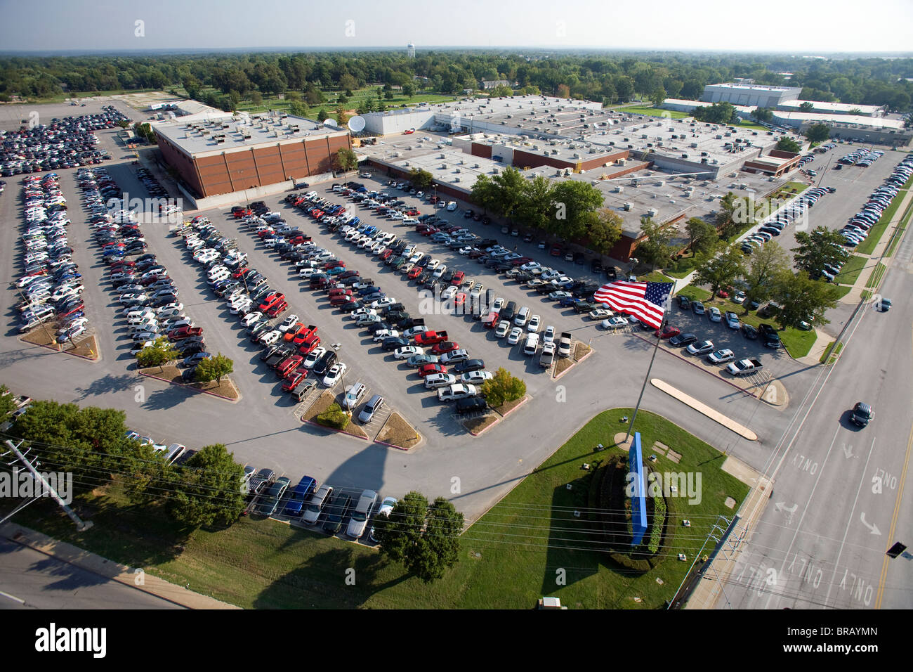 Aerial view of Walmart Stores Inc.'s Home Office in Bentonville, Ark. - Stock Image