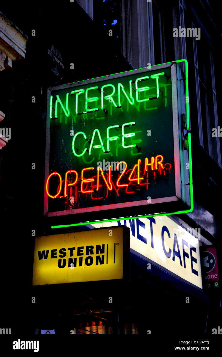 Internet Cafe Signs Stock Photos & Internet Cafe Signs Stock Images