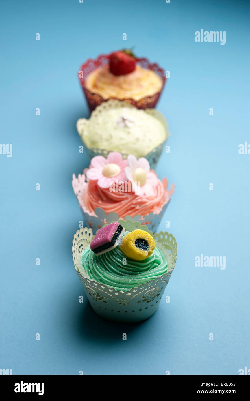 Four Cupcakes - Stock Image