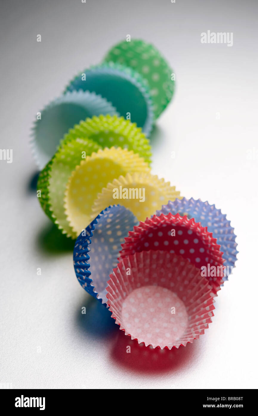 Cupcake paper cases - Stock Image