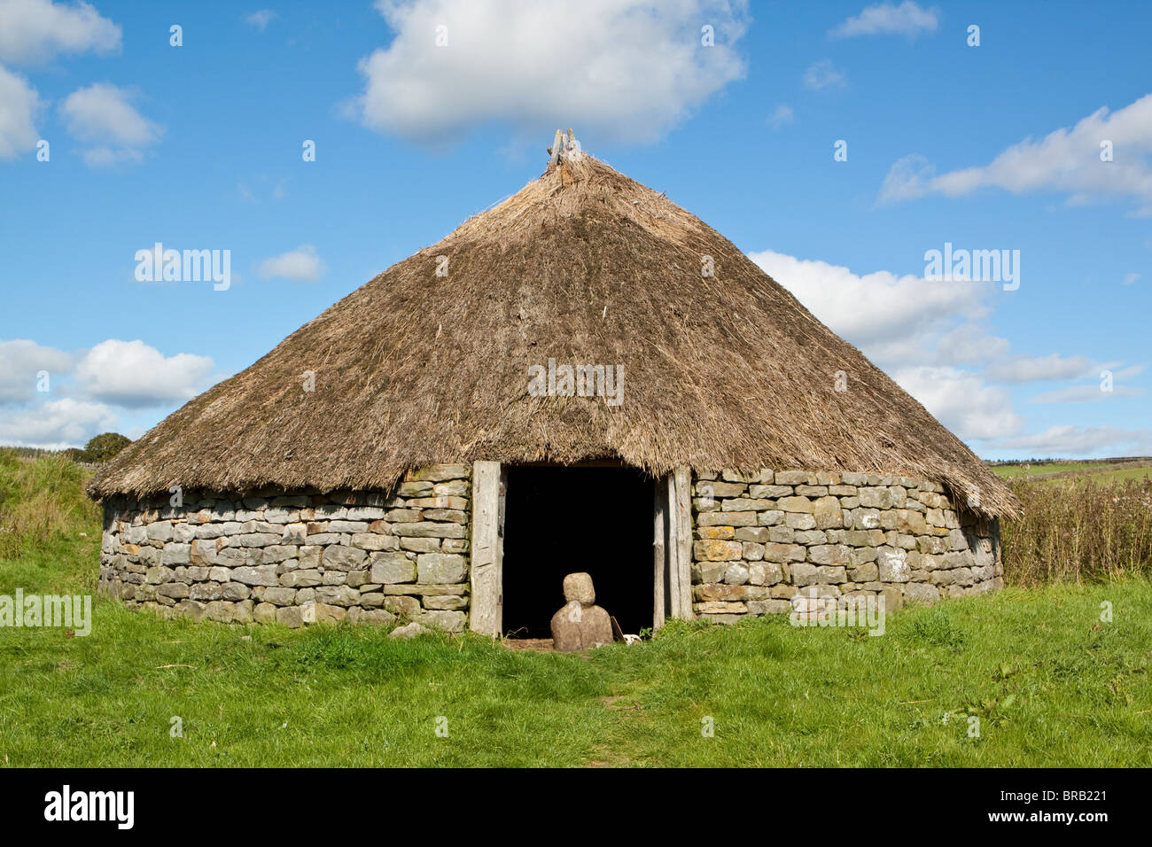 Woodlaw Enclosed Farmstead at Rochester Northumberland - Stock Image