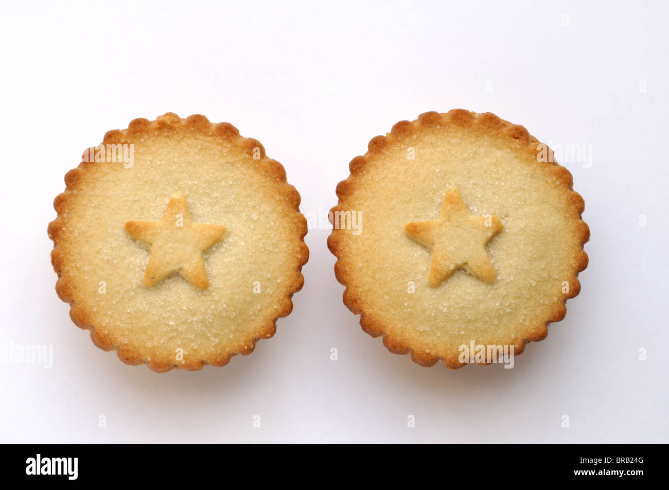 Two mince pies. - Stock Image