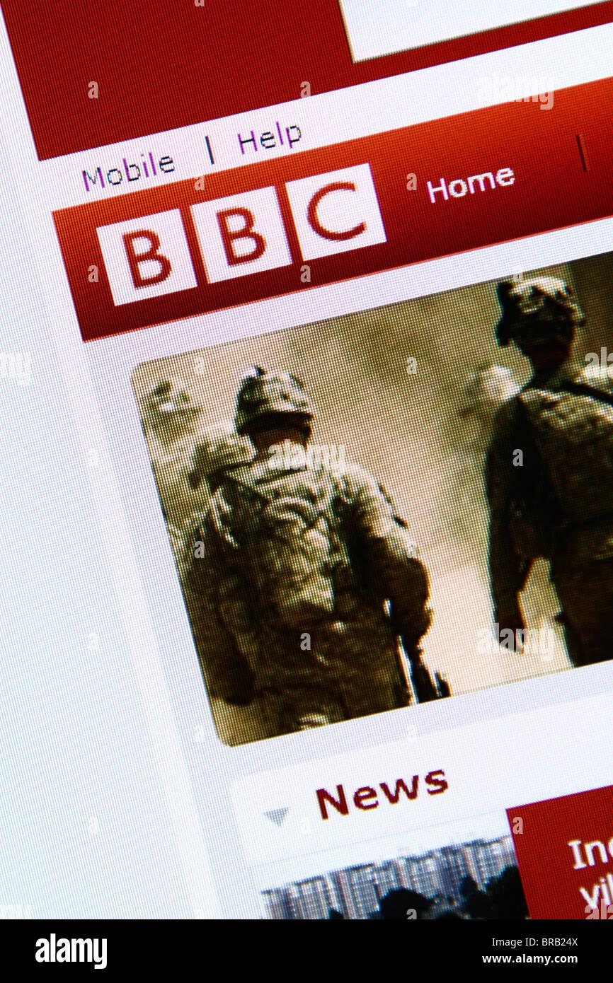 BBC online website - Stock Image