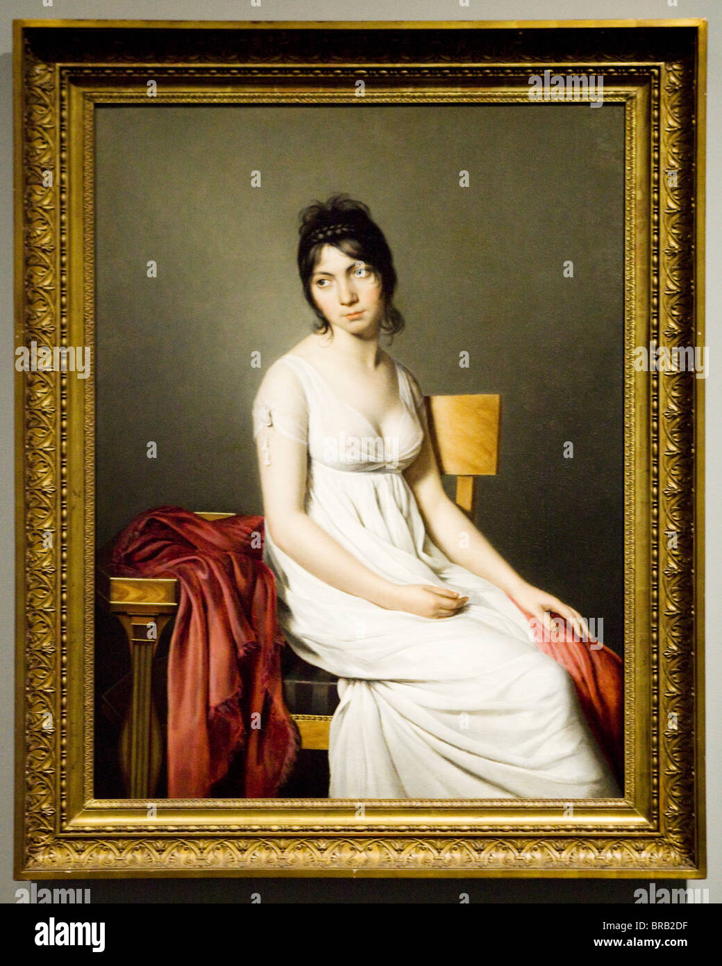 'Portrait of a Young Woman in White' by Jacques-Louis David, 1798 - Stock Image