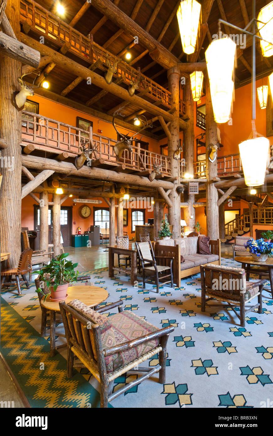 Lake Mcdonald Lodge >> Lobby Lake Mcdonald Lodge Glacier National Park Montana Stock