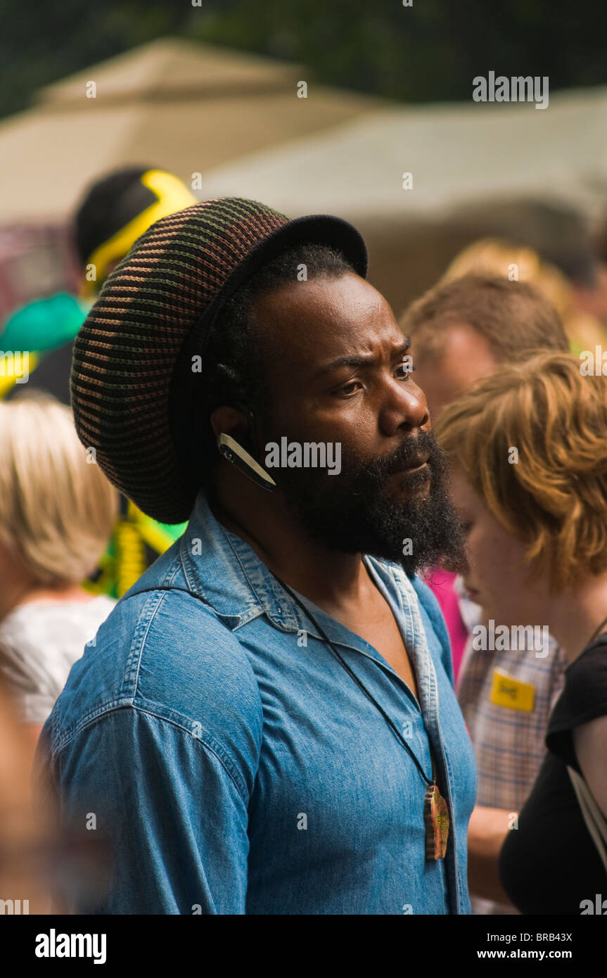 A reveller at the 2009 Notting Hill Carnival - Stock Image