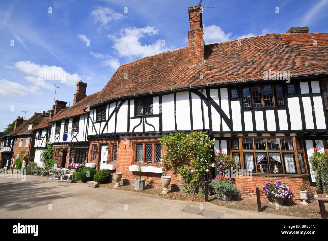Timber Framed Cottages in Chilham, Kent - Stock Image