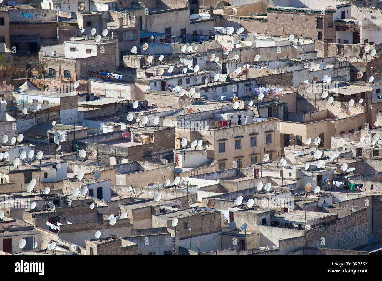 Satellite dish in Fez, Morocco Stock Photo