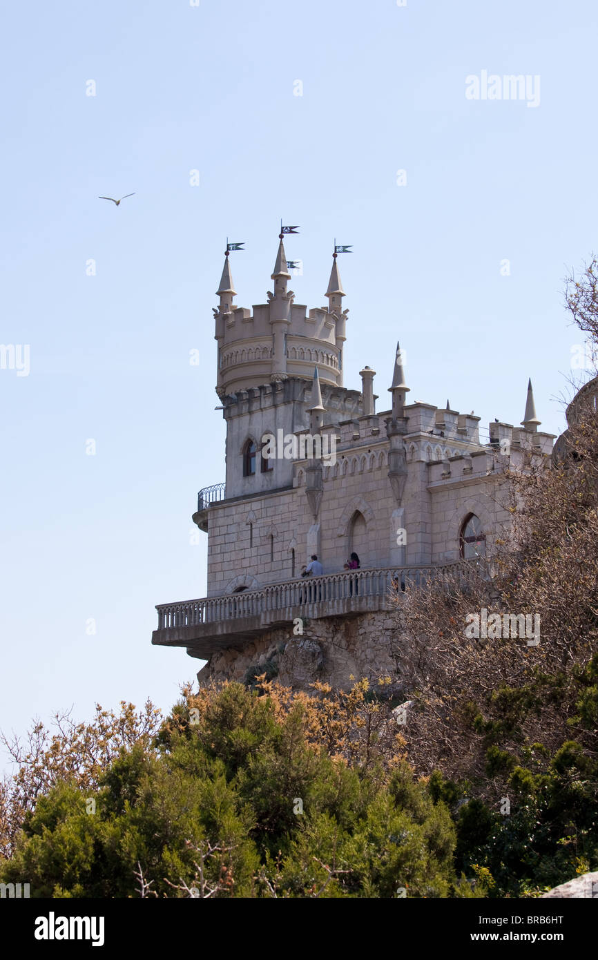 Swallow's Nest castle. Crimea, Yalta, Ukraine - Stock Image