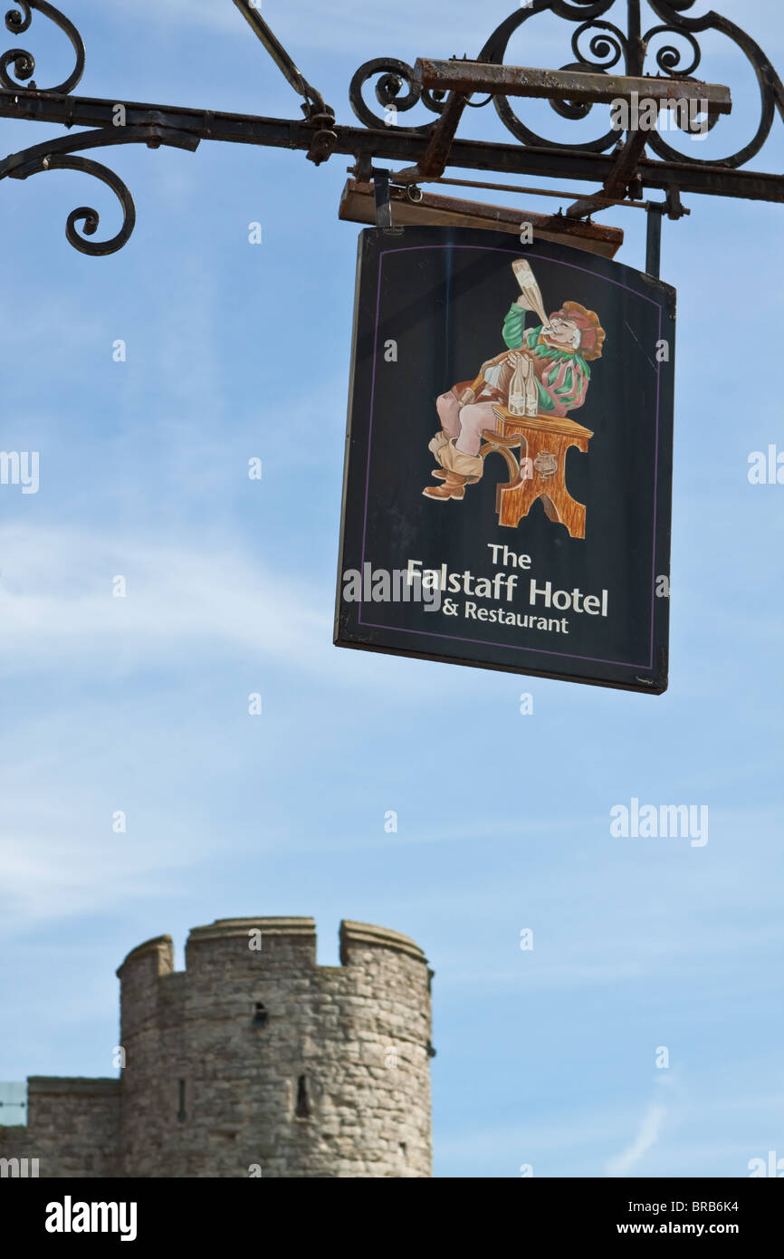 Falstaff Hotel Sign Westgate Canterbury - Stock Image