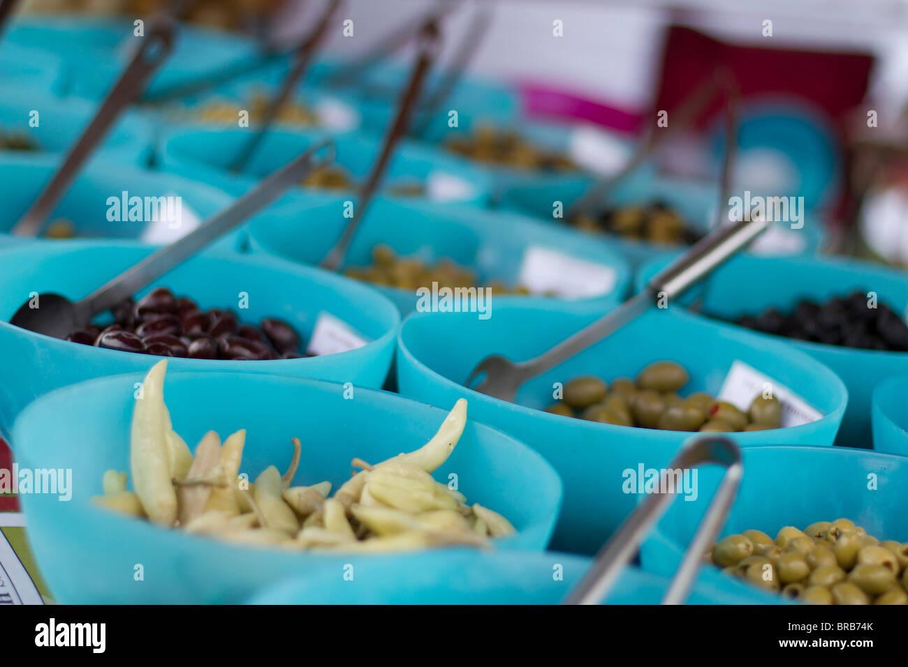 Bowls of Olives - Stock Image
