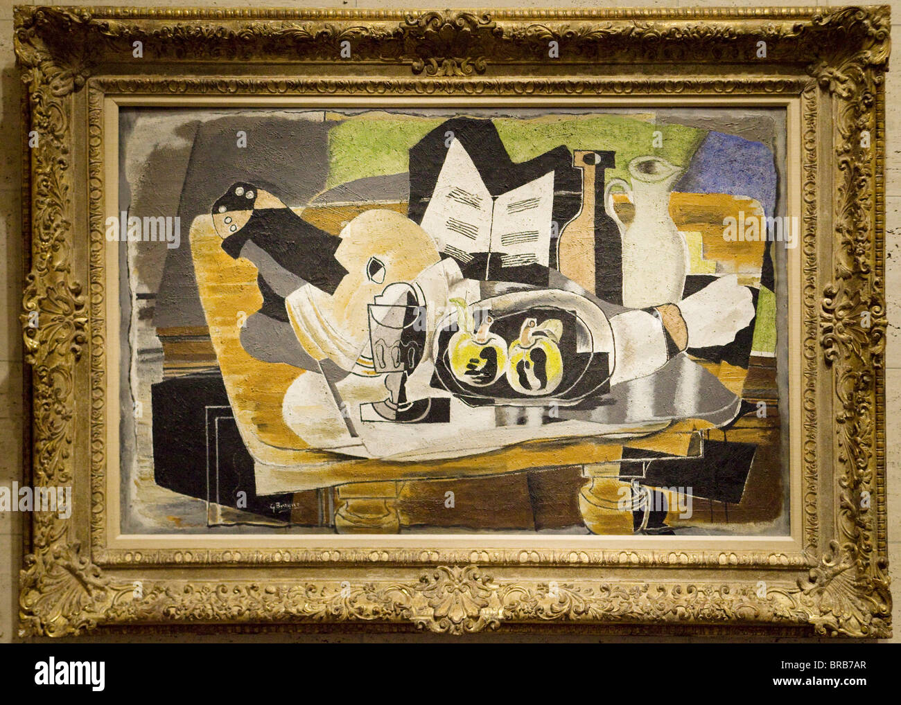 still life the table by georges braque 1928 stock photo 31594719