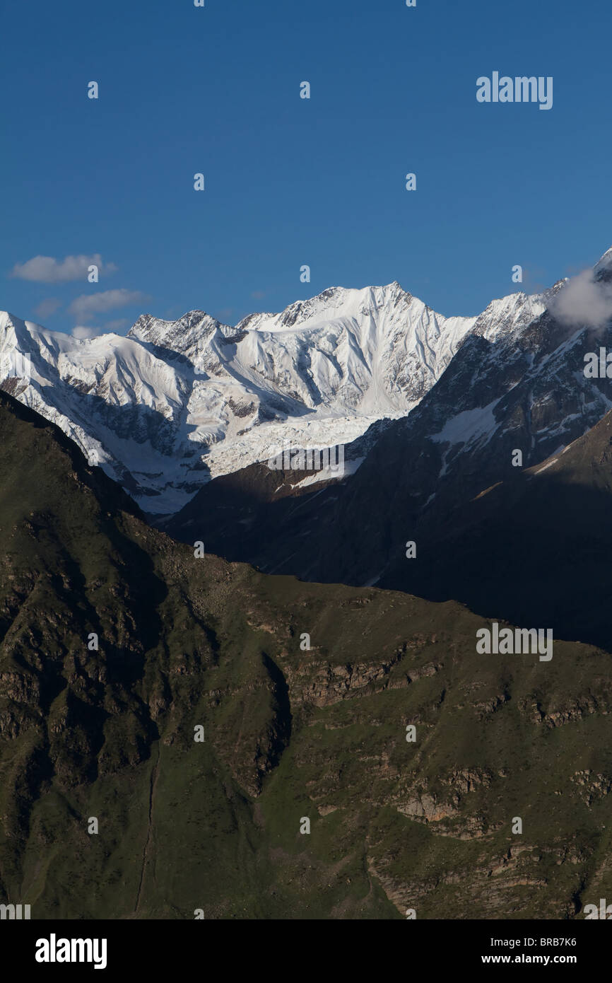 mountains on the road to keylong - Stock Image