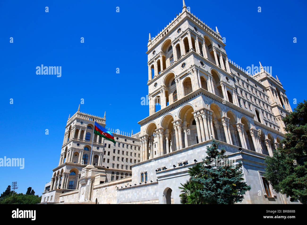 Dom Soviet, the building from which Azerbaijan was governed during the Soviet era, Baku, Azerbaijan - Stock Image