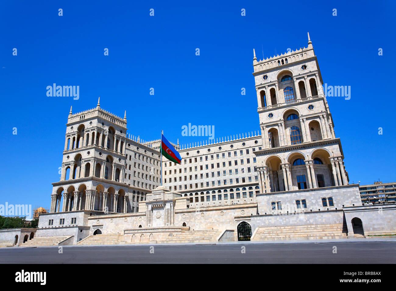 Dom Soviet, the building from which Azerbaijan was governed during the Soviet era, Baku, Azerbaijan - Stock Image