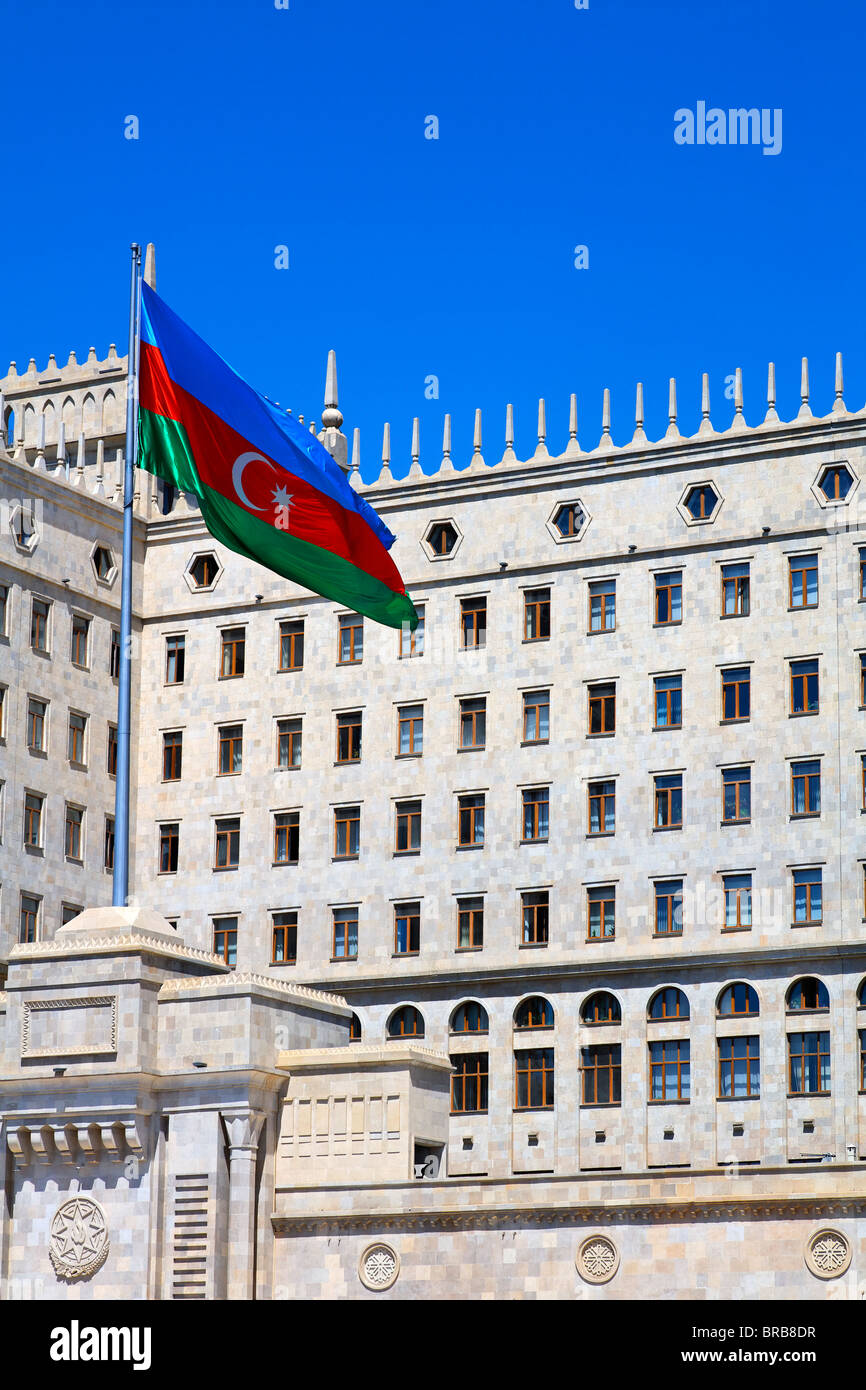 Dom Soviet, the building from which Azerbaijan was governed during the Soviet era, Baku, Azerbaijan Stock Photo