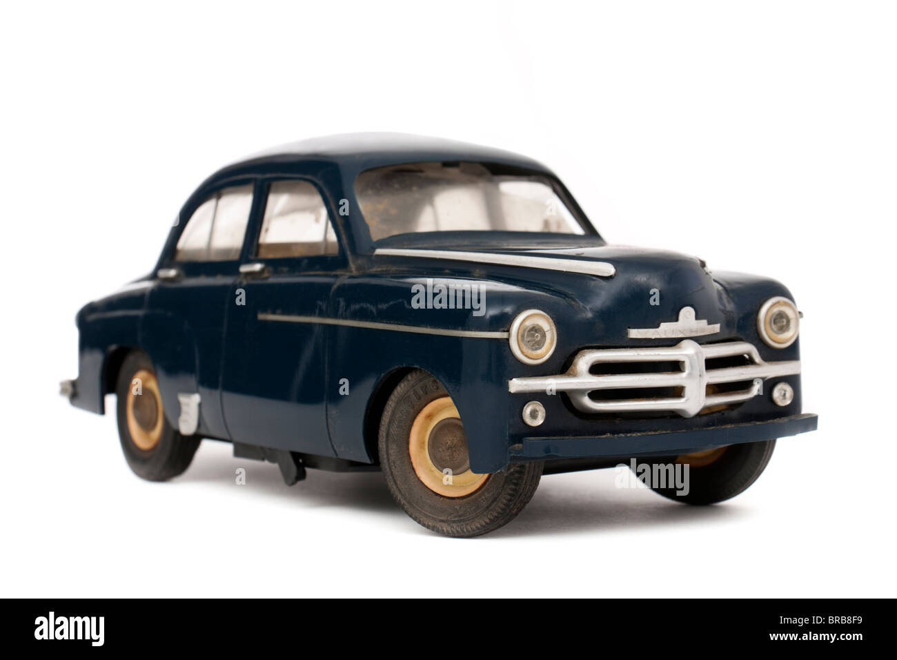 Vintage 1950's battery-operated Vauxhall Velox (GM) 1:18 scale model car by Victory Industries - Stock Image