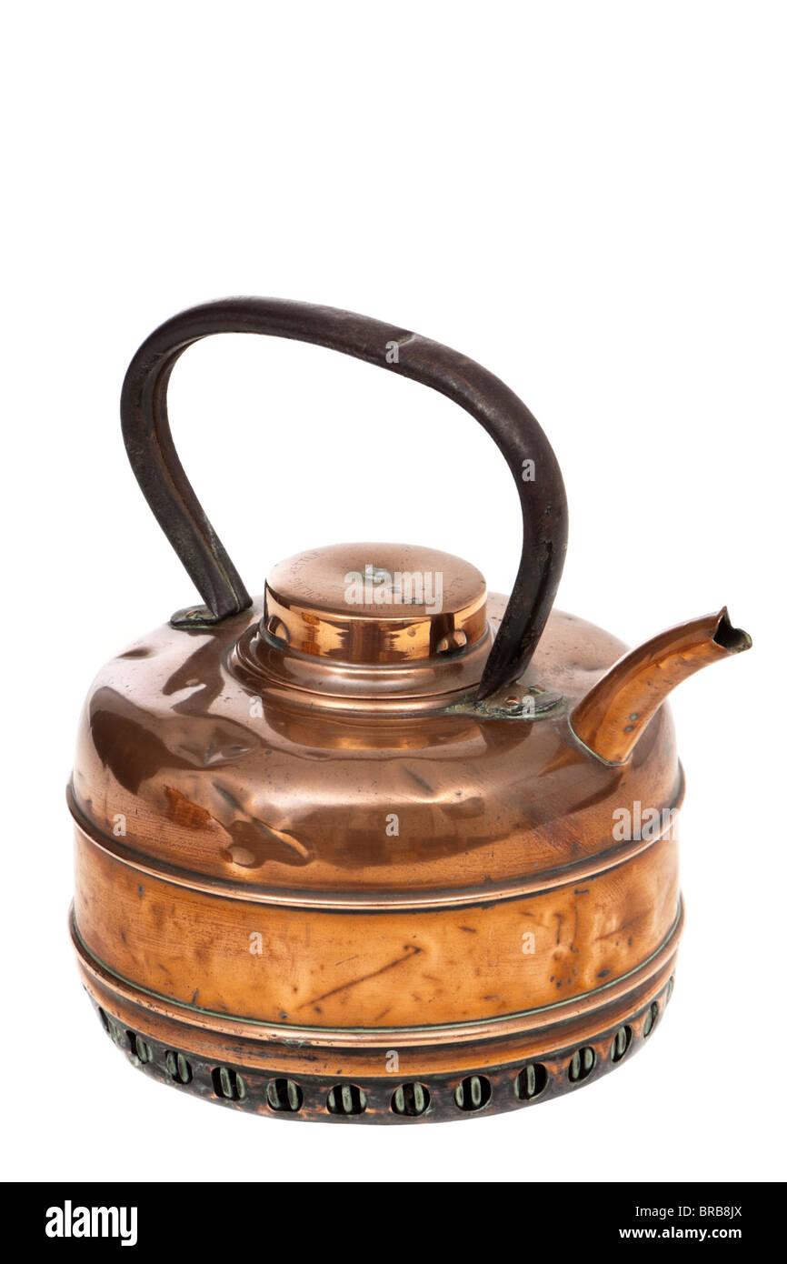 Antique copper quick boiling kettle - Stock Image