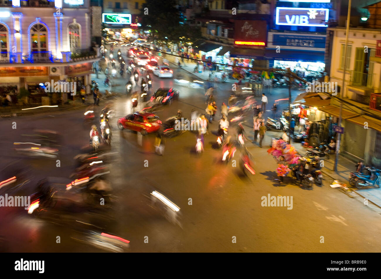 Busy traffic, Hanoi, Vietnam, Indochina, Southeast Asia, Asia - Stock Image