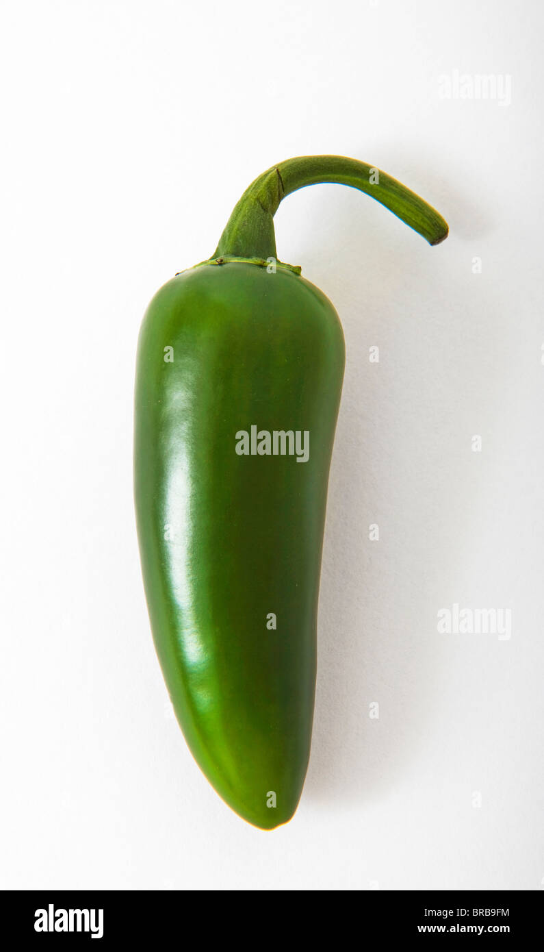 green hot chillie pepper chillies - Stock Image