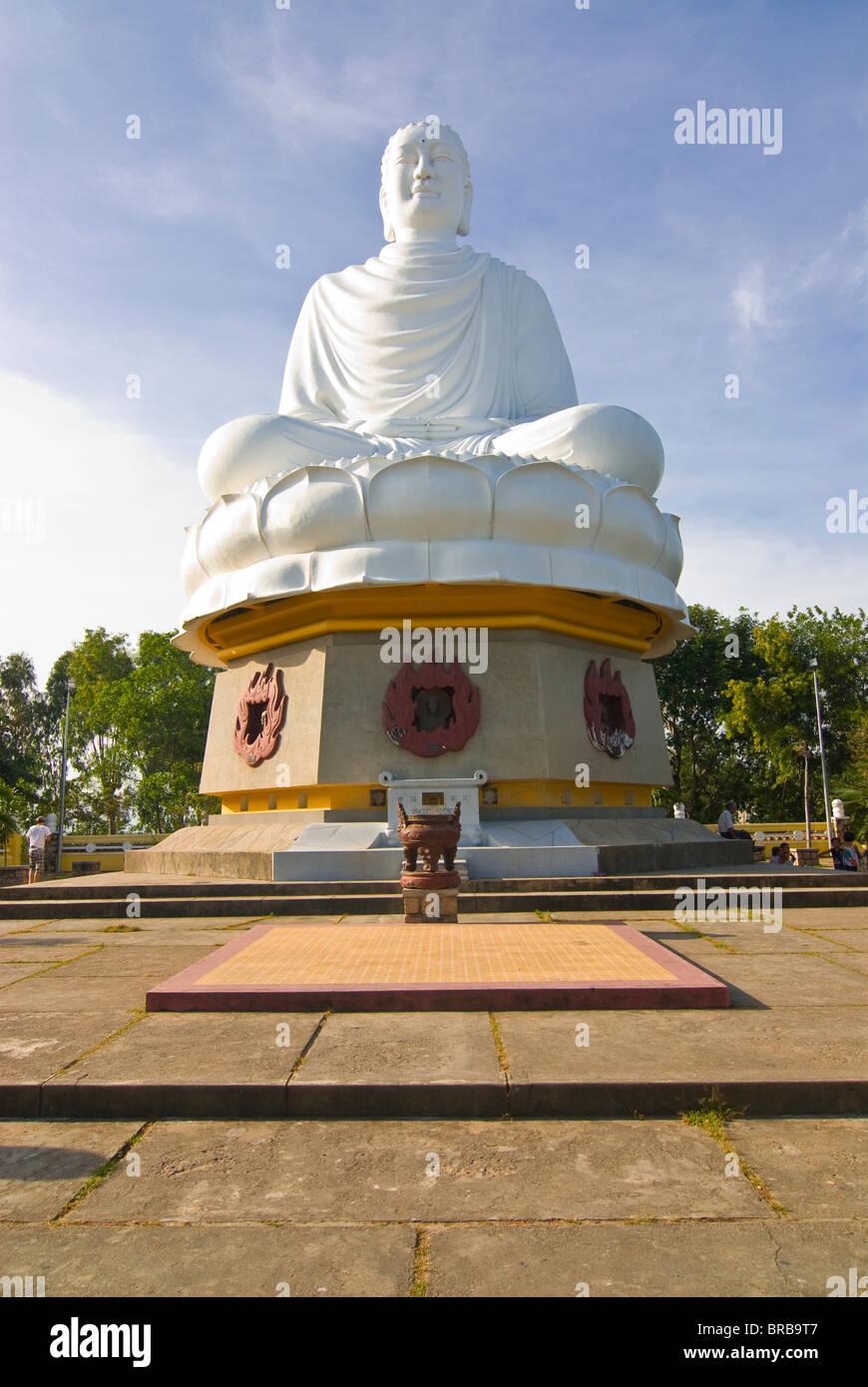 Giant Buddha at the Long Son Pagoda, Nha Trang, Vietnam, Indochina, Southeast Asia, Asia Stock Photo