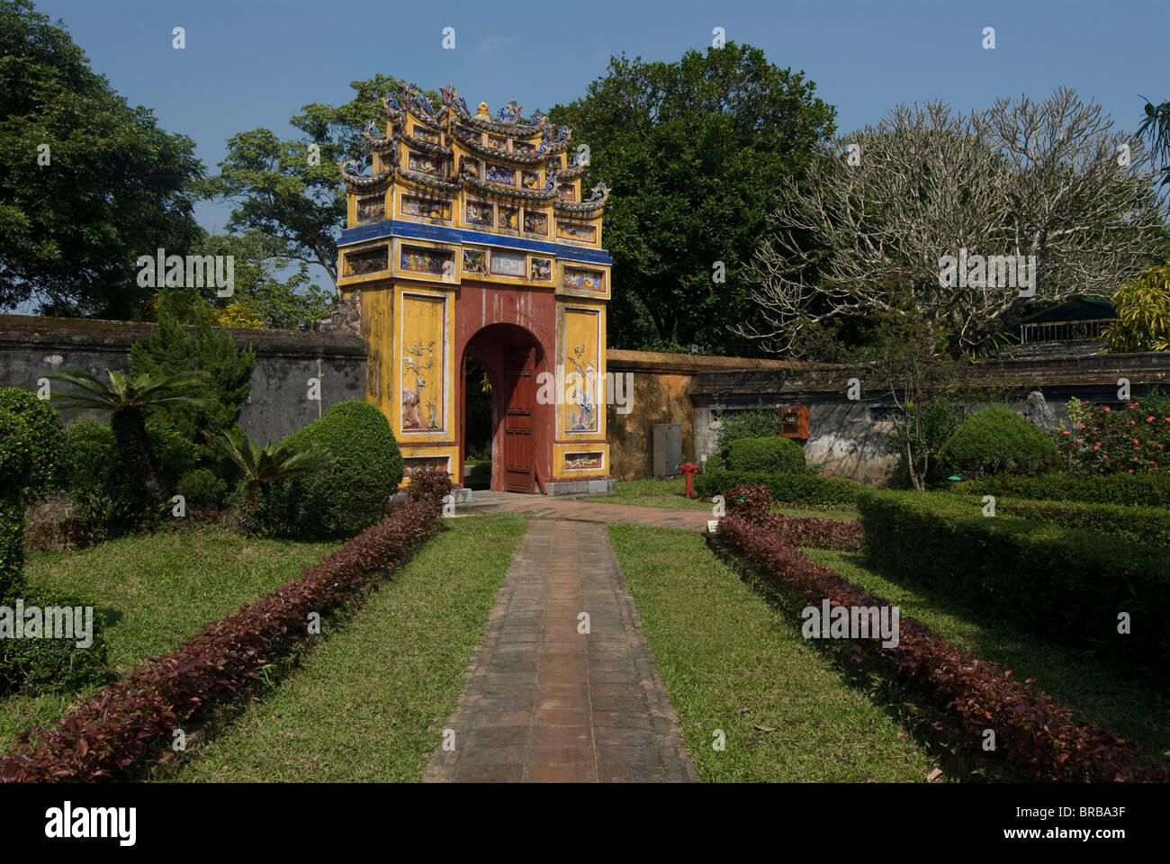 To Mieu Temple complex, UNESCO World Heritage Site, Hue, Vietnam, Indochina, Southeast Asia, Asia - Stock Image