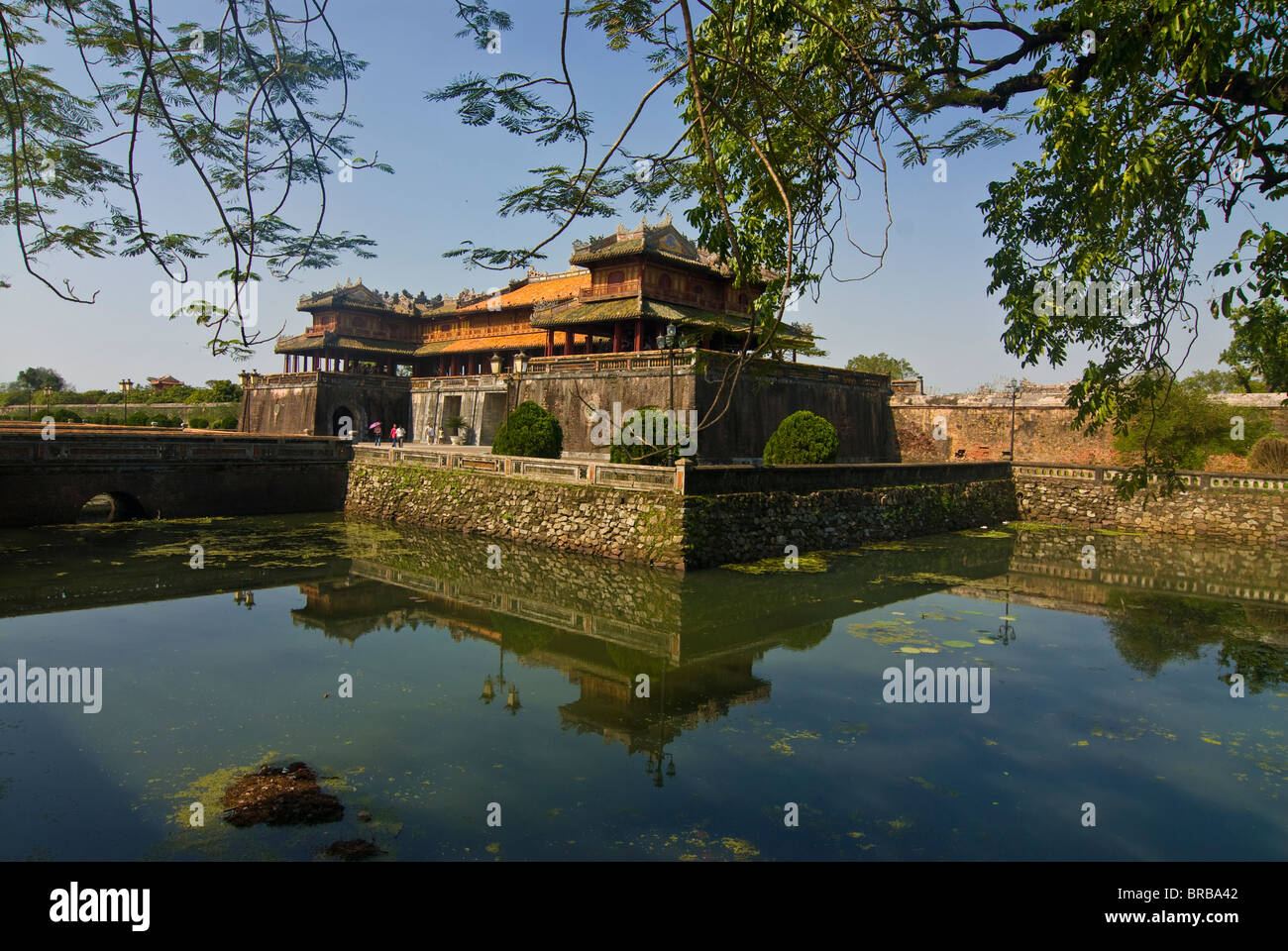 Ngo Mon gate, entrance to the Imperial Enclosure, Hue, Vietnam, Indochina, Southeast Asia, Asia - Stock Image