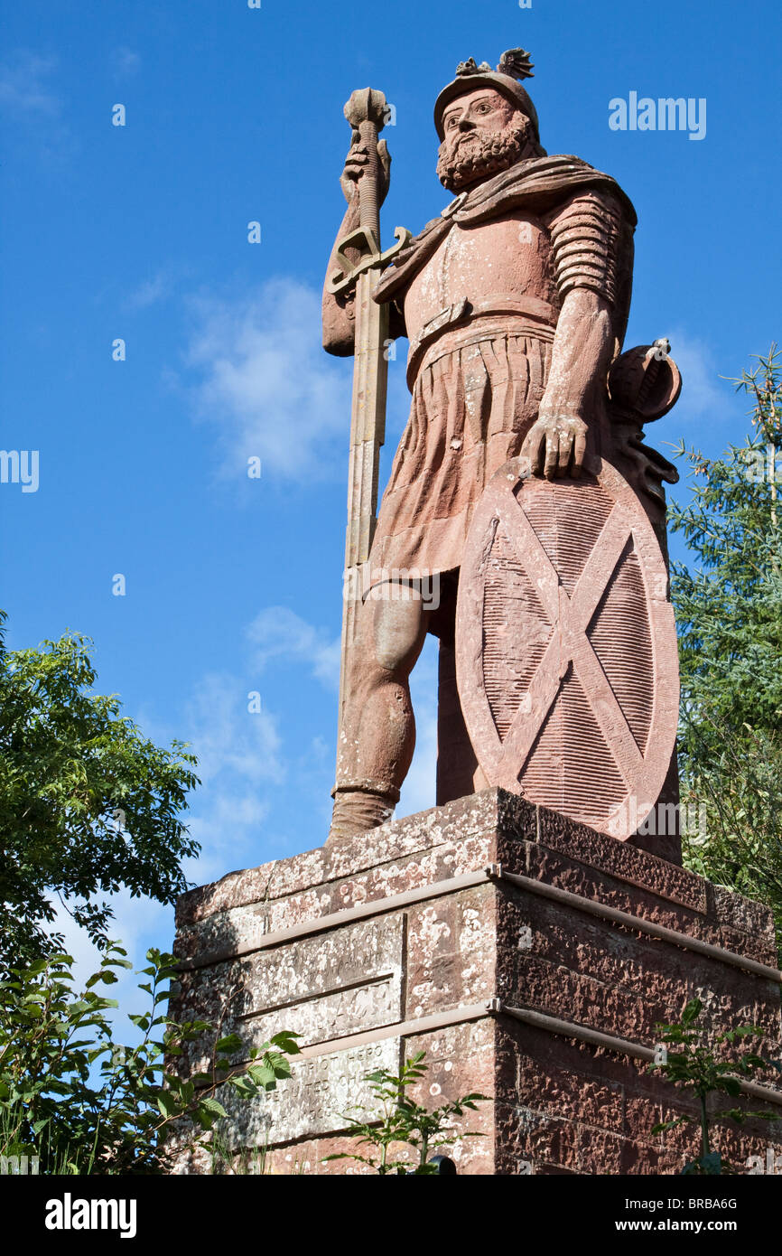 William Wallace Statue at Dryburgh nr Melrose Scotland - Stock Image