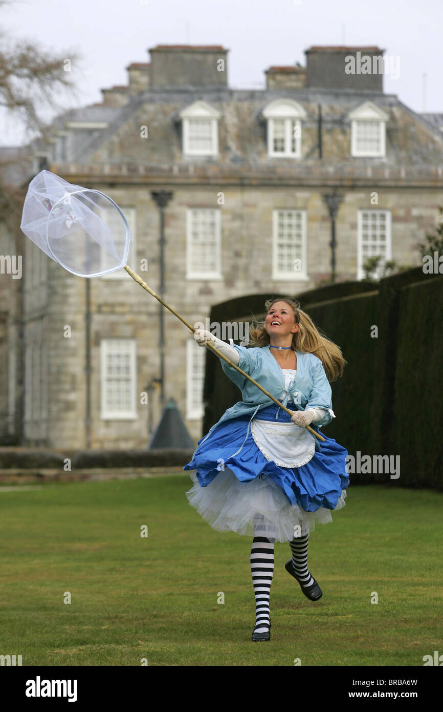 Alice in Wonderland at Anthony House, Torpoint, Conwall. - Stock Image