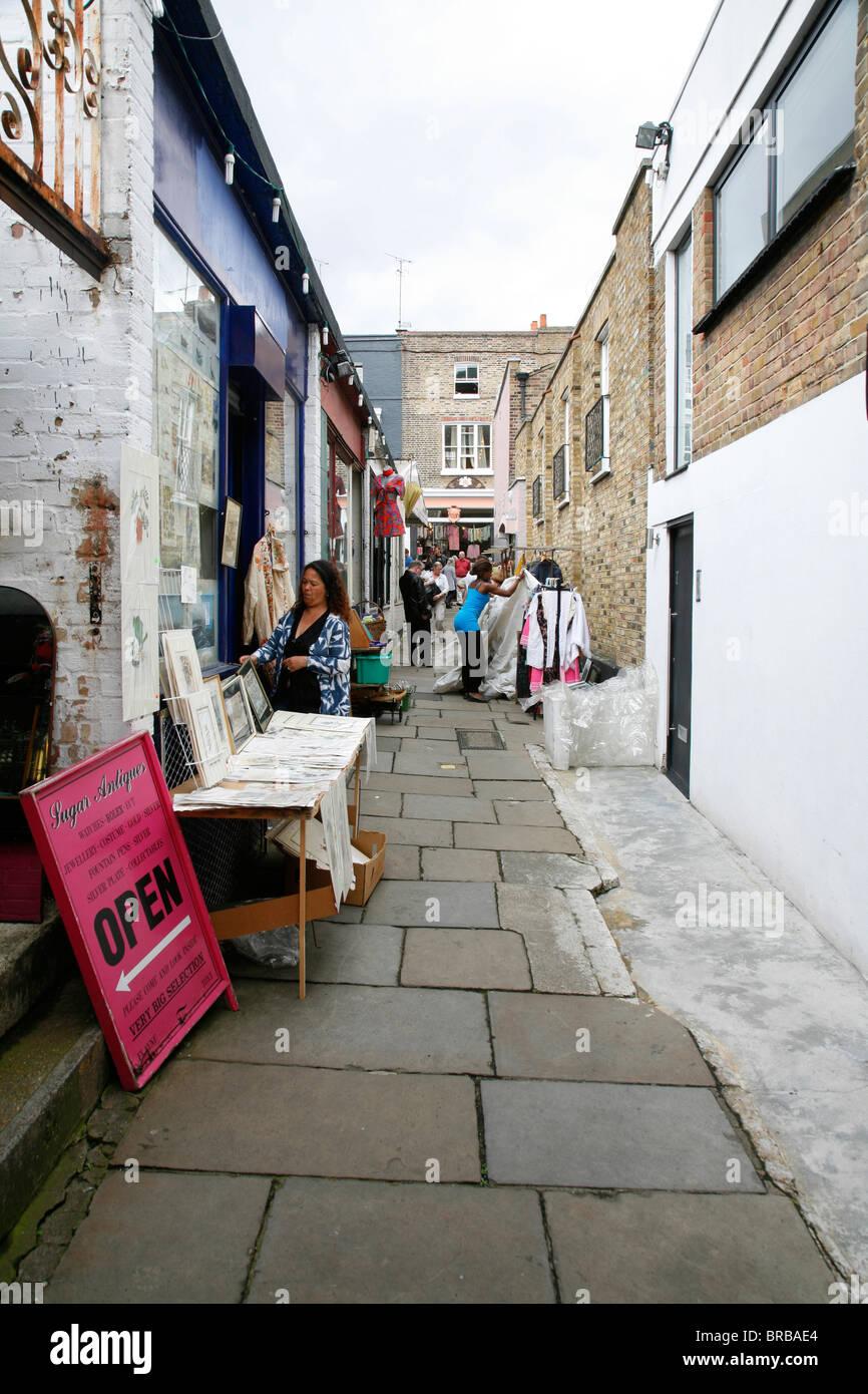 Pierrepoint Arcade in Camden Passage, Islington, London, UK - Stock Image