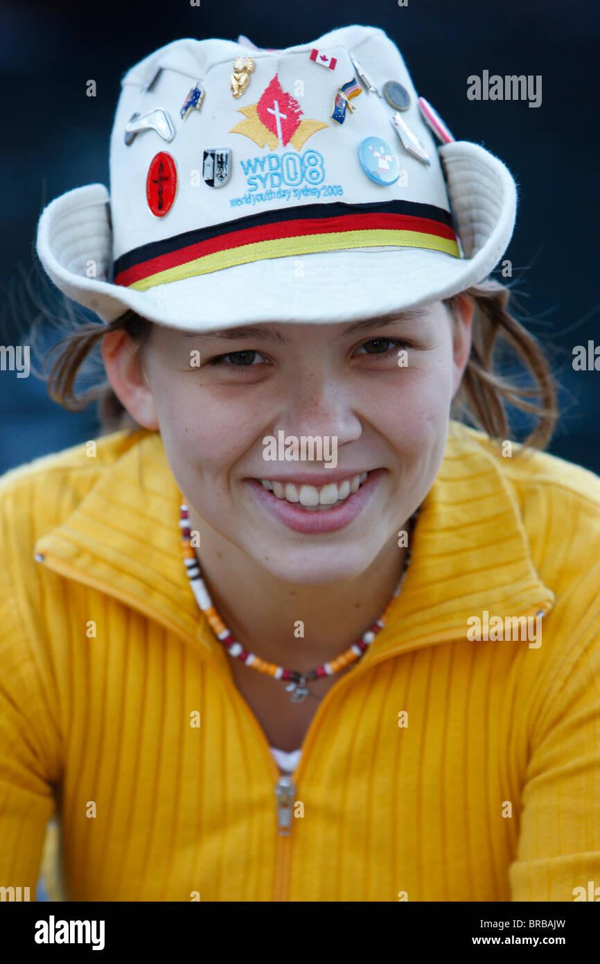 Pilgrim from Germany, World Youth Day, Sydney, New South Wales, Australia - Stock Image