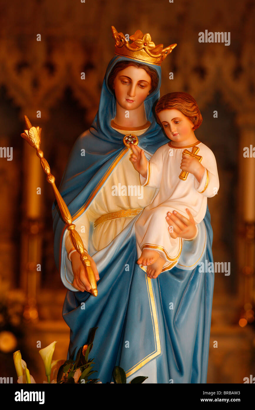 Virgin Mary and Jesus, St. Mary's Cathedral, Sydney, New ...