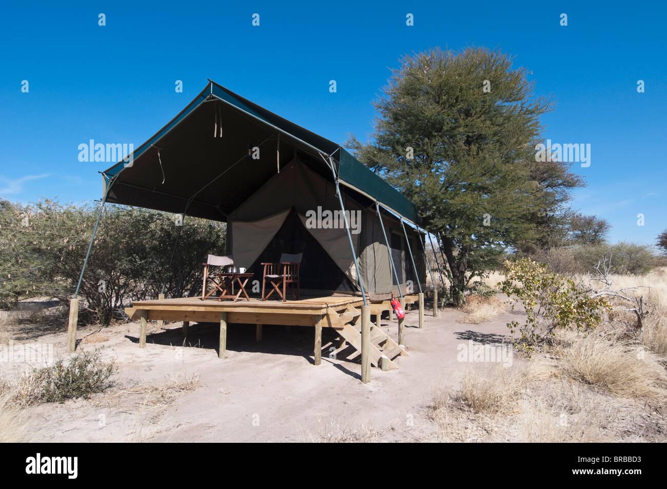 Kalahari Plains Camp, Deception Valley, Central Kalahari Game Reserve, Botswana - Stock Image