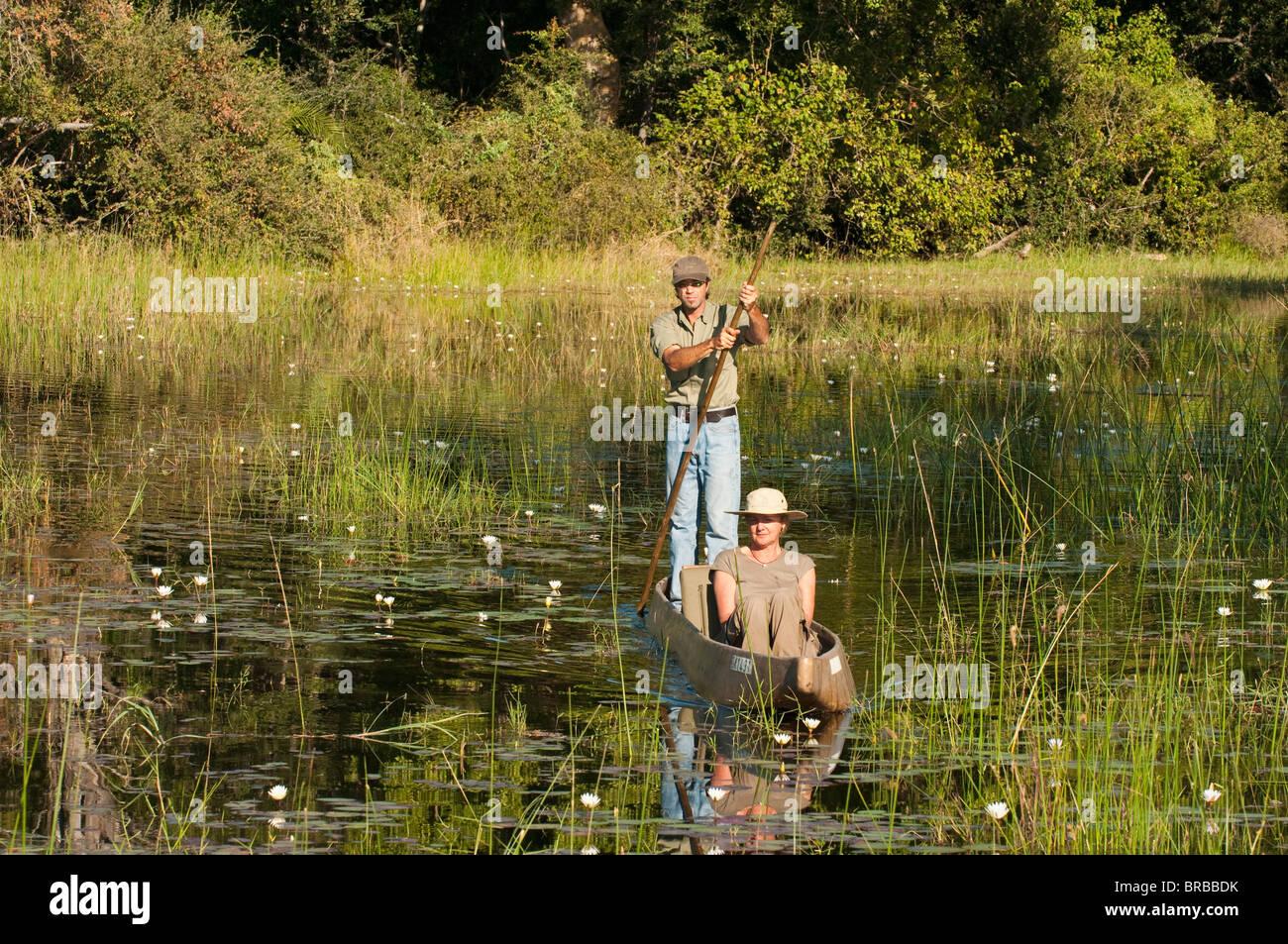 Abu Camp, Okavango Delta, Botswana - Stock Image