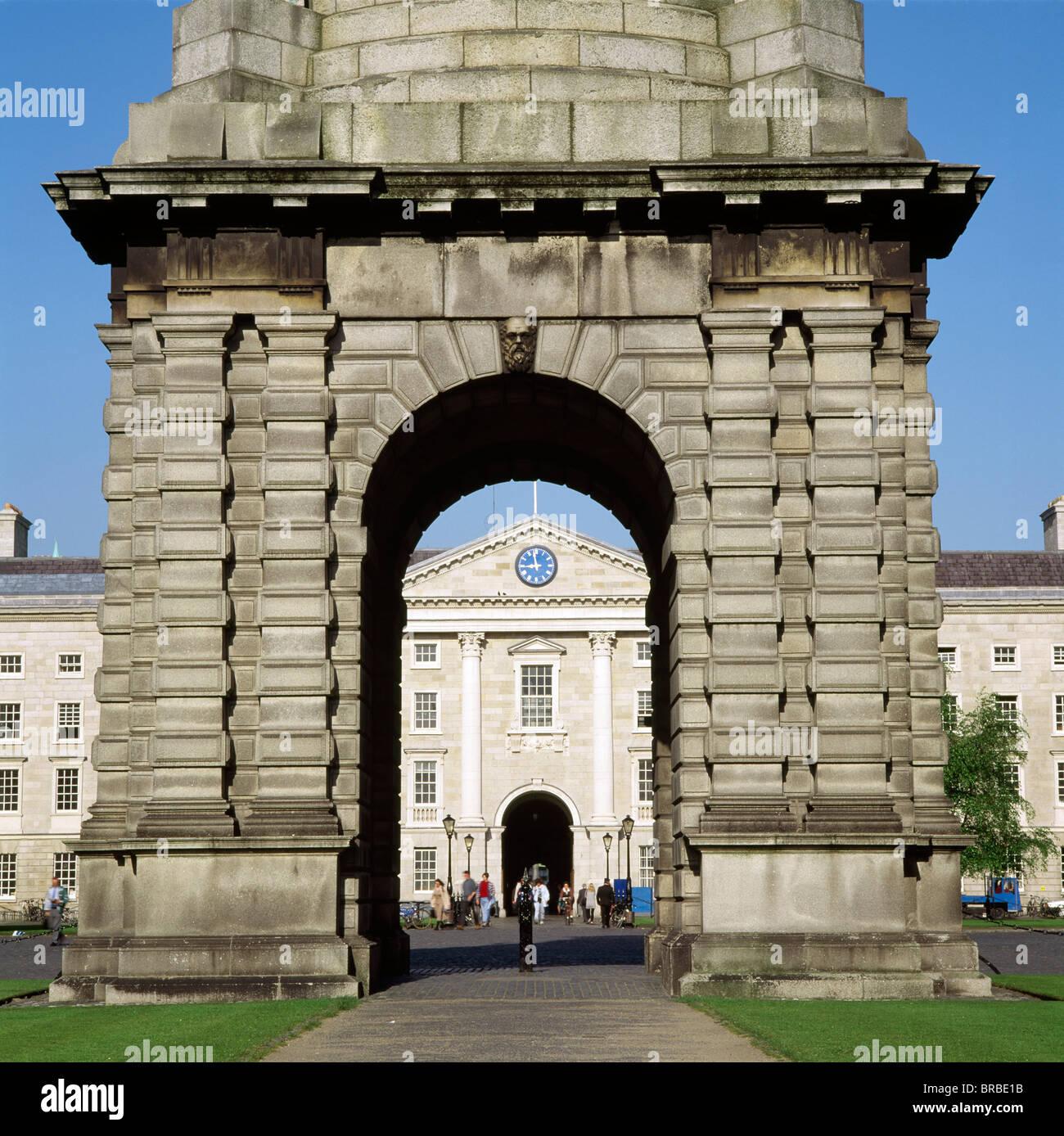 Trinity College, Dublin City, County Dublin, Ireland - Stock Image