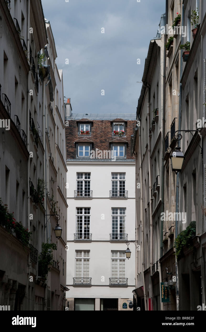 Mansion on Ile St Louis, Paris, France - Stock Image