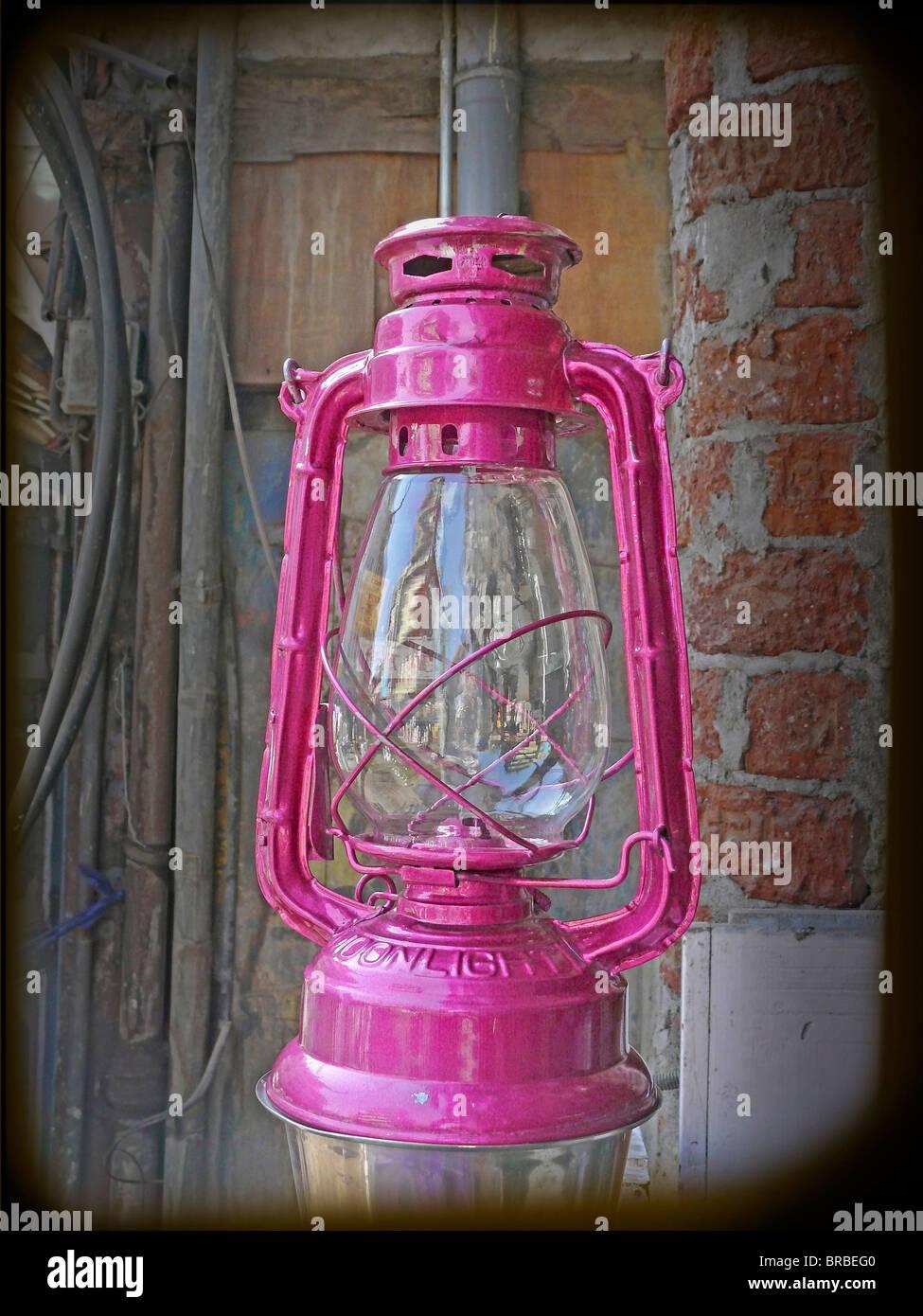 Lantern for sell Old type Lantern, Alternative energy; Antique, Kerosene; Gas Lamps, Chimney; Light; oil, classic, - Stock Image