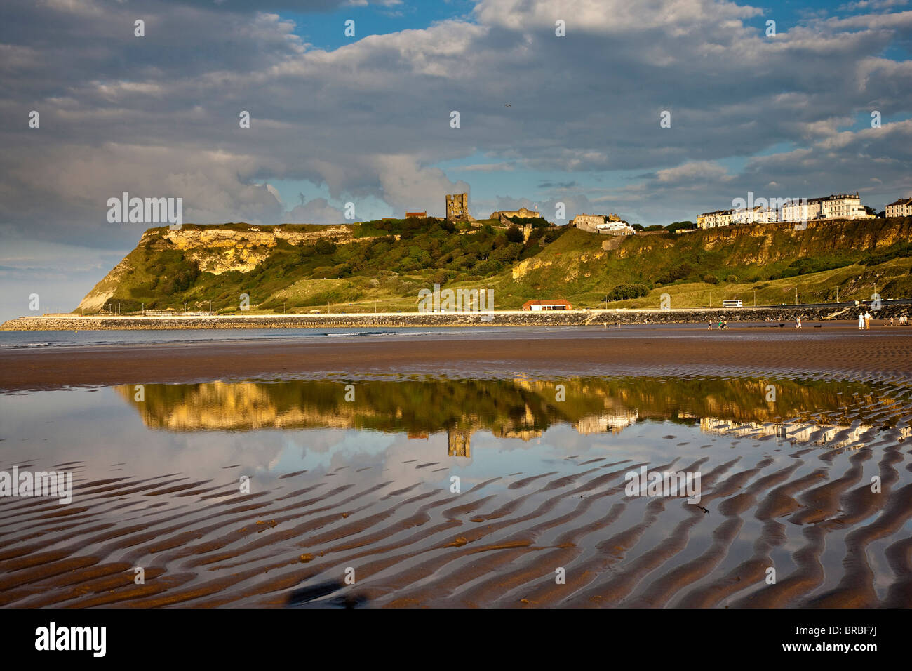 North Bay and Castle Headland, Scarborough, North Yorkshire - Stock Image