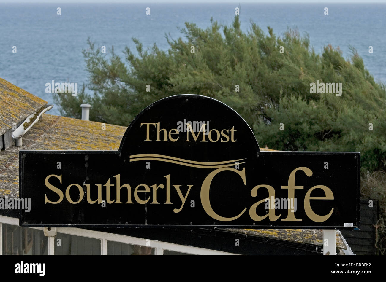 Polpeor Café. The most Southerly Café in England at Lizard Point, Cornwall,UK.  Open almost all year. - Stock Image