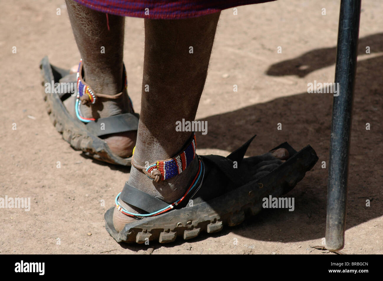 Close up of Masai shoes made from motorcycle tyres Stock Photo ... ac379cc0e